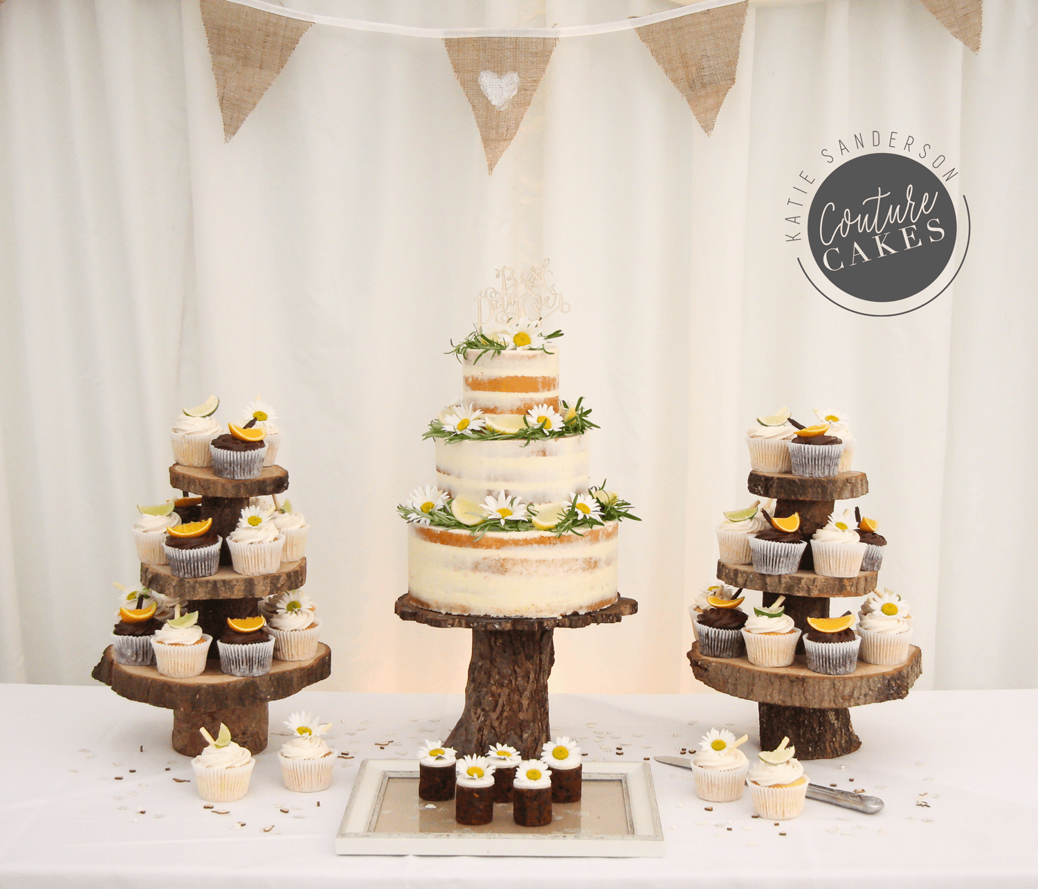 Naked Cake serves 110 portions, Price £335, plus 40 cupcakes at £3.50 each