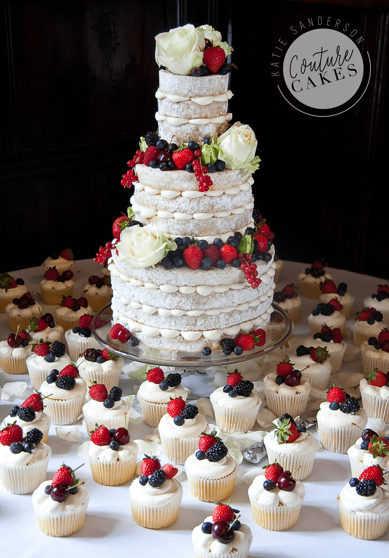 Naked Cake serves 110 portions, Price £355 plus £3.50 per cupcake