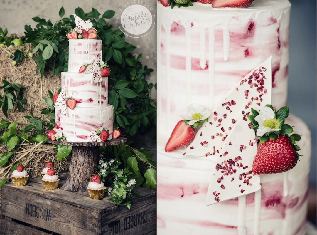 Strawberry Chocolate Shard Cake, Serves 100 portions Price category C, £575. Photography by Sarah Vivienne.