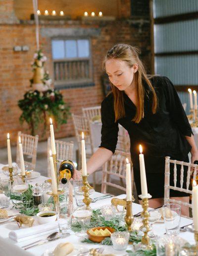wedding cake at wedding reception oundle
