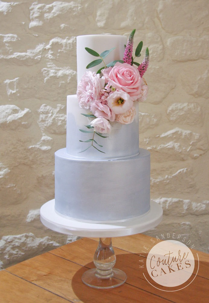 Ombre Shimmer Wedding Cake, Serves 80, Price Category B, £435 excl fresh flowers