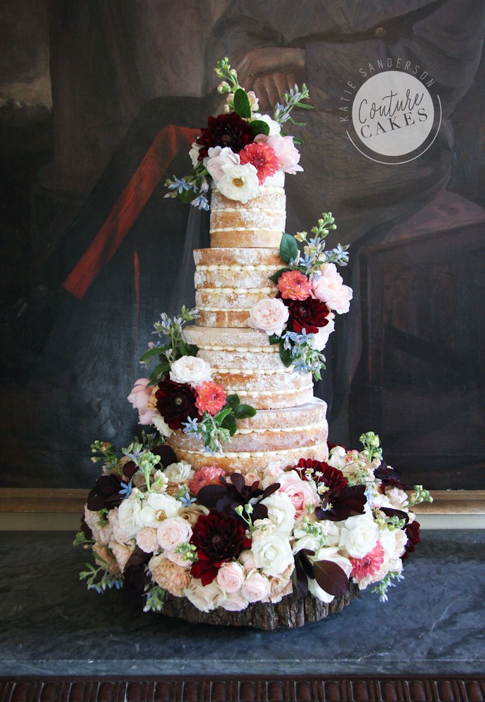 Semi-Naked Cake Serves 145, £425 plus £220 flowers