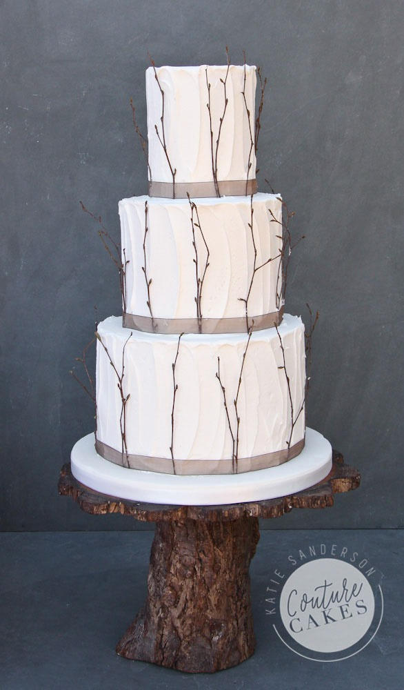 Rustic Twigs Wedding Cake, Serves 80, Price Category B, £455