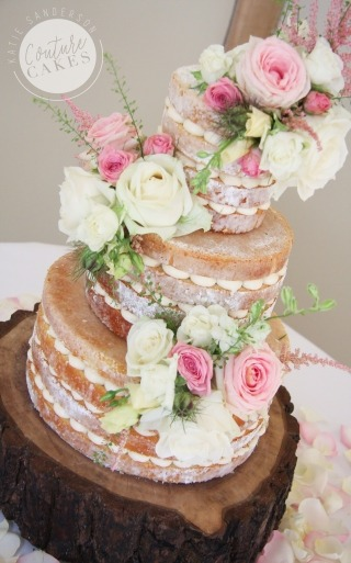 Naked Cake Serves 110 portions, £335, plus estimated £65 flowers